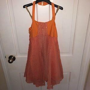 Revolution Orange Sparkly Dress Dance Costume